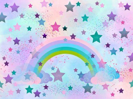 Cotton Candy Sky Rainbow Backdrop