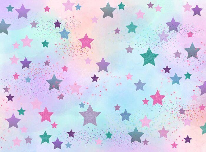 Cotton Candy Sky Star Backdrop