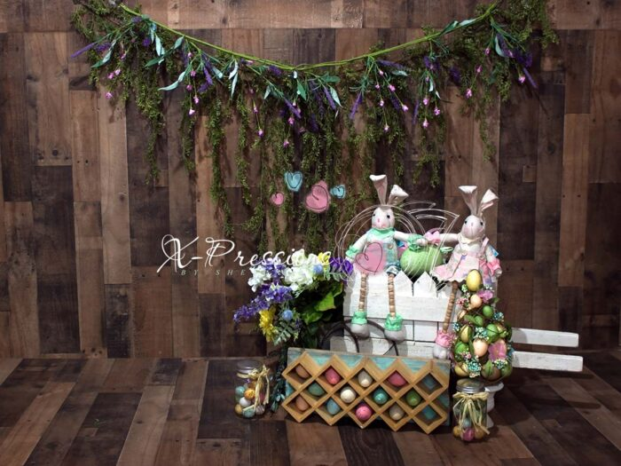 Easter Bunny Swag Backdrop