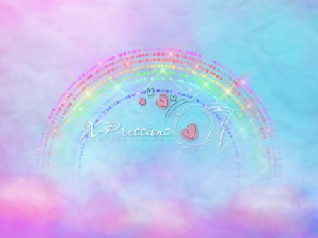 Glowing Rainbow Sky Backdrop
