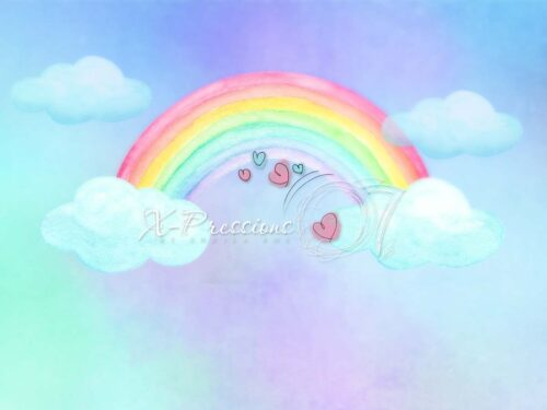Pastel Rainbow Sky Backdrop