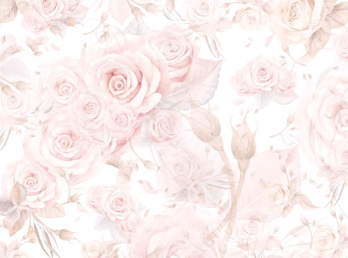 Soft Floral Petal Pink Rose Backdrop