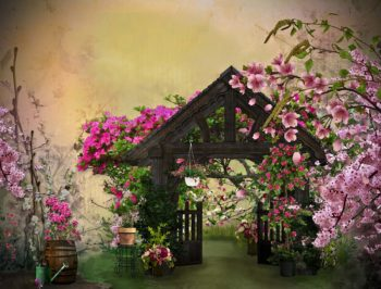 Dream Garden Photography Backdrop