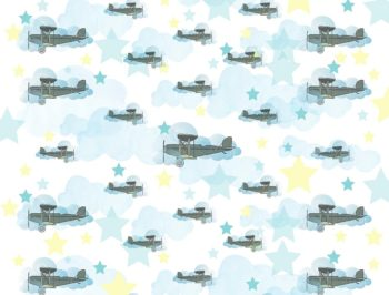 Airplane Flying High Backdrop