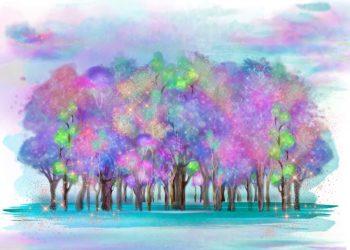 Unicorn Land Fantasy Forest Backdrop