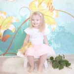 Easter Session with Lilies Backdrop