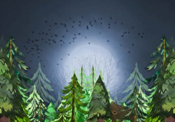 Little Forest Bear Backdrop for Children