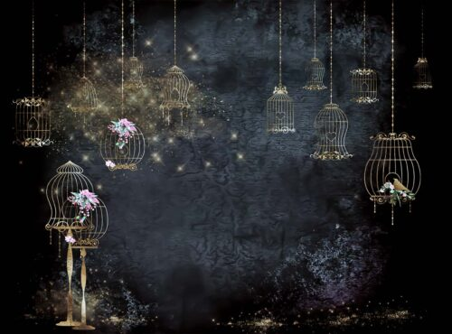 Enchanted Bird Cage Photography Backdrop