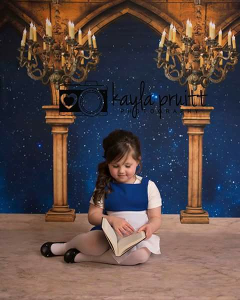 Beauty and the Beast themed Backdrop Photosession