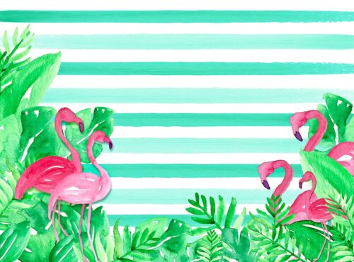 Pink Flamingo Photography Backdrop