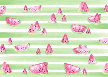 Watercolour Watermelon Photography Backdrop