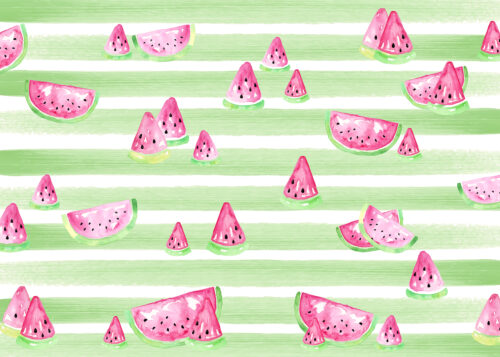 Watercolour Watermelon Photography Backdrop