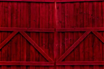 Double Gate Candy Apple Red Photography Backdrop