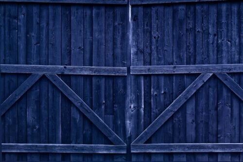Double Gate Blue Photography Backdrop