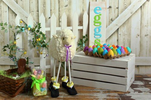 Easter Sheep Photography Backdrop
