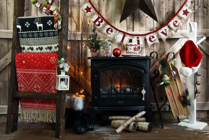 Fireplace Photography Backdrop