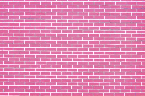 Pink Brick Wall Photography Backdrop