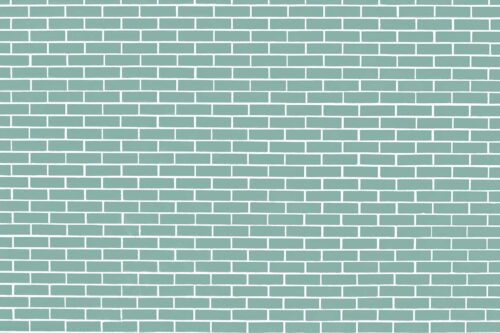 Soft Teal Brick Wall Photography Backdrop