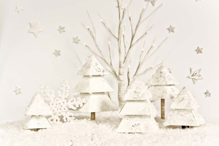 Winter Wonderland Trees Photography Backdrop