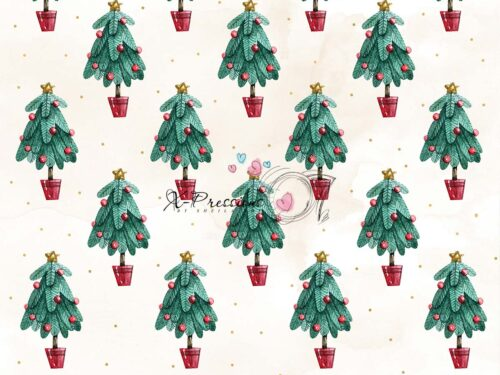 Mini Christmas Tree Photography Backdrop
