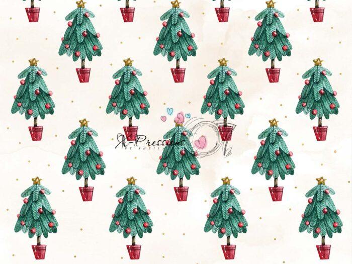 Mini Christmas Tree Photography Backdrop