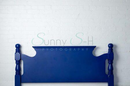 Solid Blue Headboard