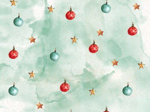Stars and Baubles Christmas Backdrop
