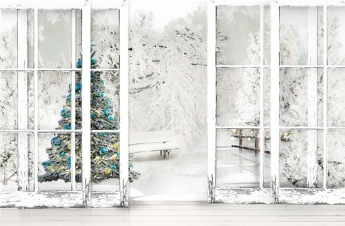 White Christmas Photography Backdrop