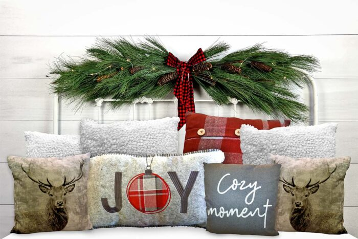 Christmas White Headboard Backdrop