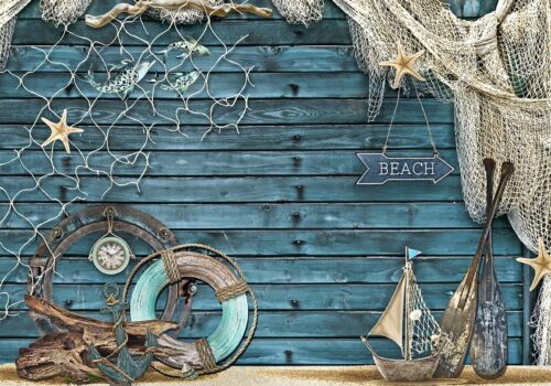Beach & Nautical Themed Backdrop