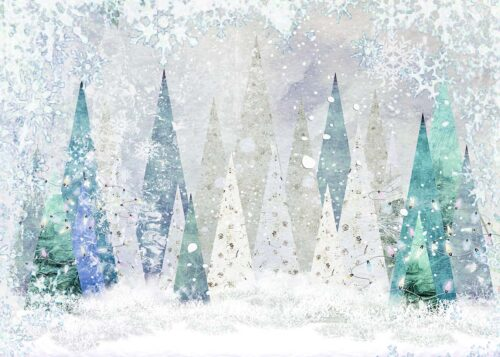 Winter Fantasy Forest Backdrop
