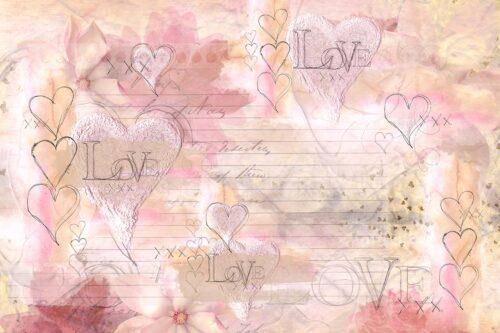 Love Letter Backdrop for Valentine's Day