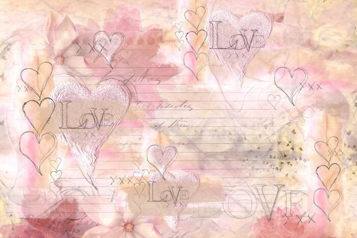 Love Letter Backdrop for Valentine's Day