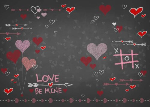 Chalkboard Valentine's Day Backdrop