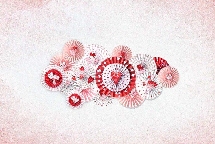 Valentine Pinwheel Backdrop