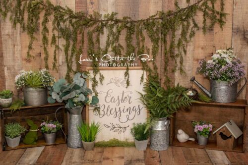 Easter Greenery Backdrop