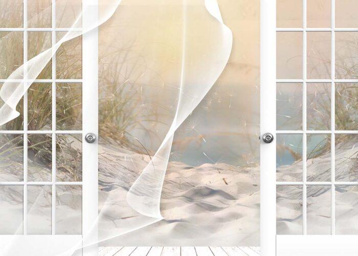 Beach Backdrop Breeze through Window