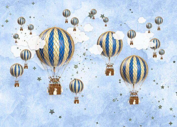 Hot Air Balloon Photography Backdrop