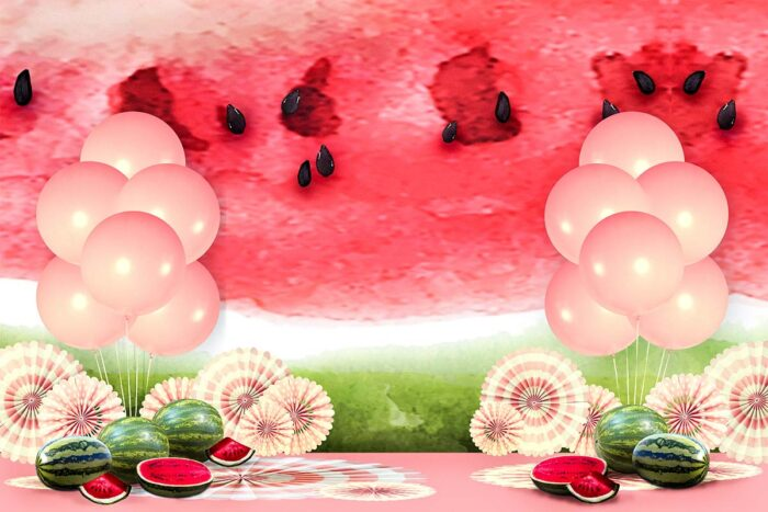 Watermelon Themed Backdrop