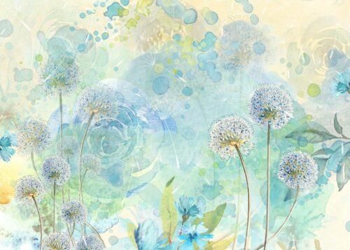 Blue Floral Watercolour Photography Backdrop