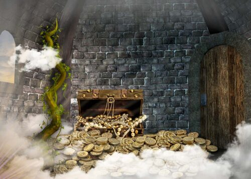Jack and the Beanstalk themed Backdrop with treasure