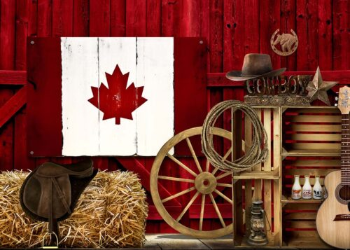Canadian Cowboy Country Themed Backdrop