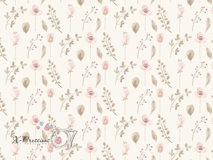 Cream Coloured Floral Photography Backdrop