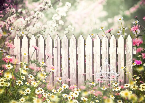 Garden Fence Photography Backdrop