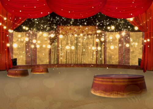Circus Themed Backdrop