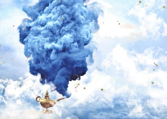 Magic Lamp Aladdin Themed Backdrop