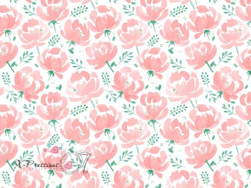 Painted Pink Petals Floral Photography Backdrop