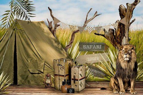 Safari Themed Photography Backdrop