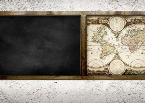 Old World Chalkboard Backdrop