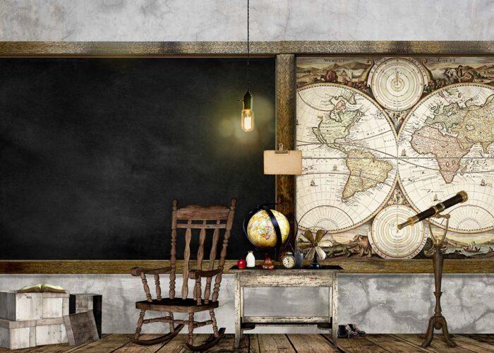 Vintage Classroom Photography Backdrop